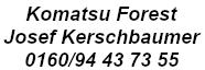 Komatsu Forest Josef Kerschbaumer